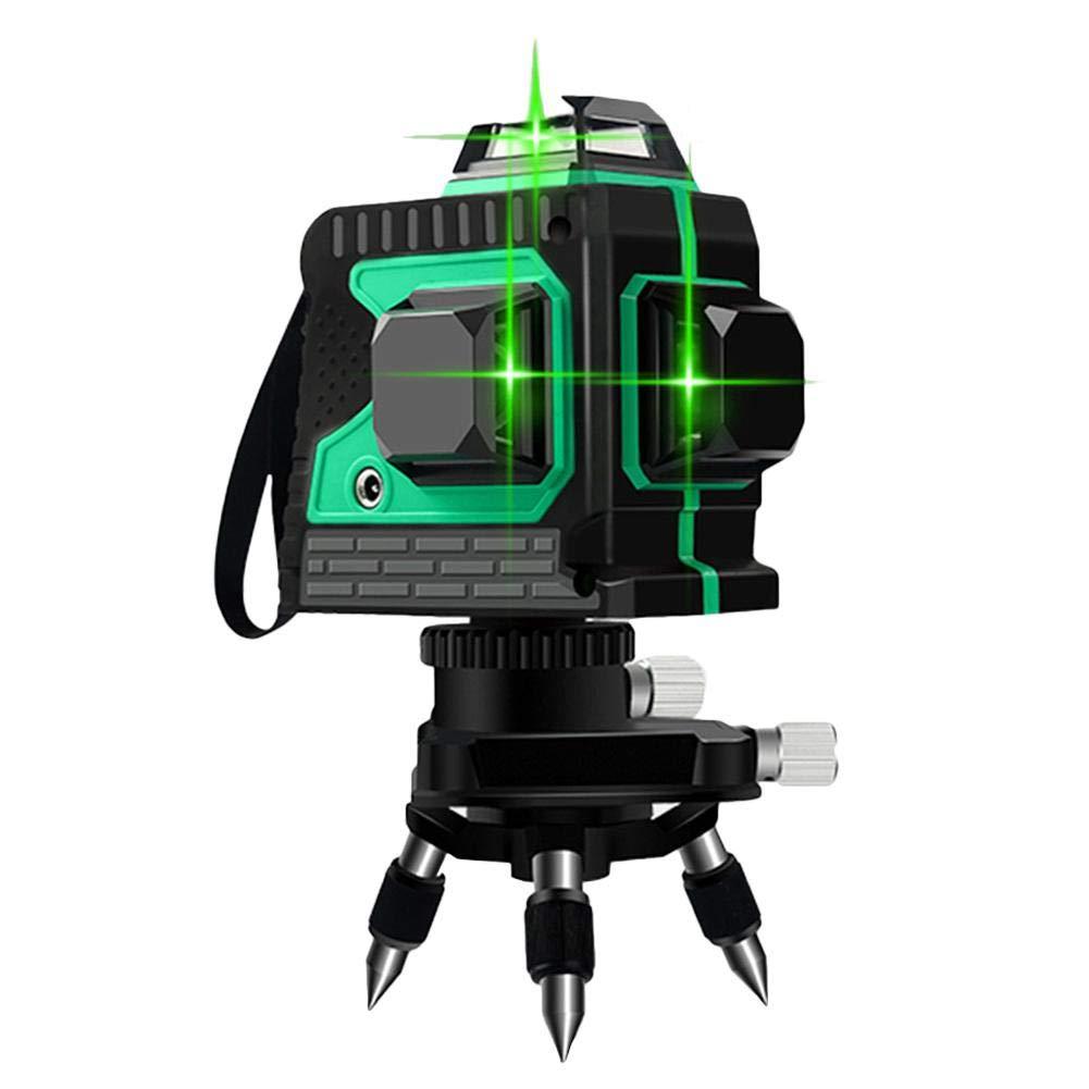 Niveau Laser Vert Niveau Laser Rotatif 360 3D 12 Lignes Niveaux Laser Vert Autonivelant, 360 Croix Horizontale Et Verticale, Ligne De Faisceau Laser Vert Super Puissant, Etanchéité IP 54 Etanchéité IP 54 Hifuture