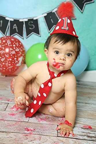 Baby Boy First Birthday Cake Smash Outfit In Red And White Mickey Mouse Polka Dots