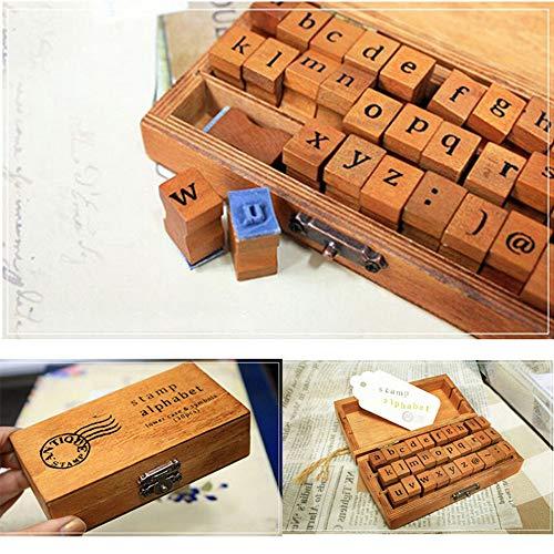 fantastic_008 30-Piece Alphabet Stamps-Multipurpose Wooden Rubber Stamps, Letter and Symbol Set for Card Making, ()