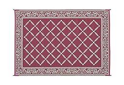 Reversible Mats 116095 Burgundy/Beige 6\'x9\' RV Garden Mat