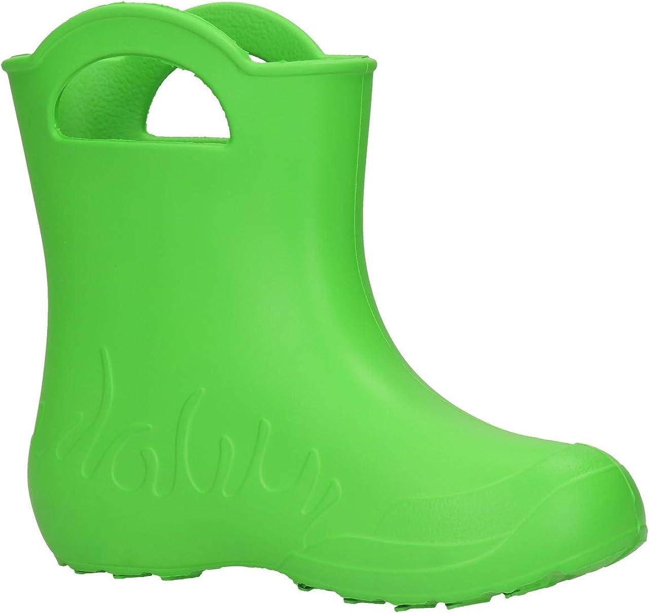 FUZZIO Kinder Frosch Eva superleicht Regenschuhe Gummistiefel