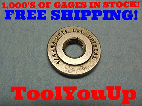 3/8 18 NPTF L-2 PIPE THREAD RING GAGE L2 .375 N.P.T.F. INSPECTION TOOLING TOOLS