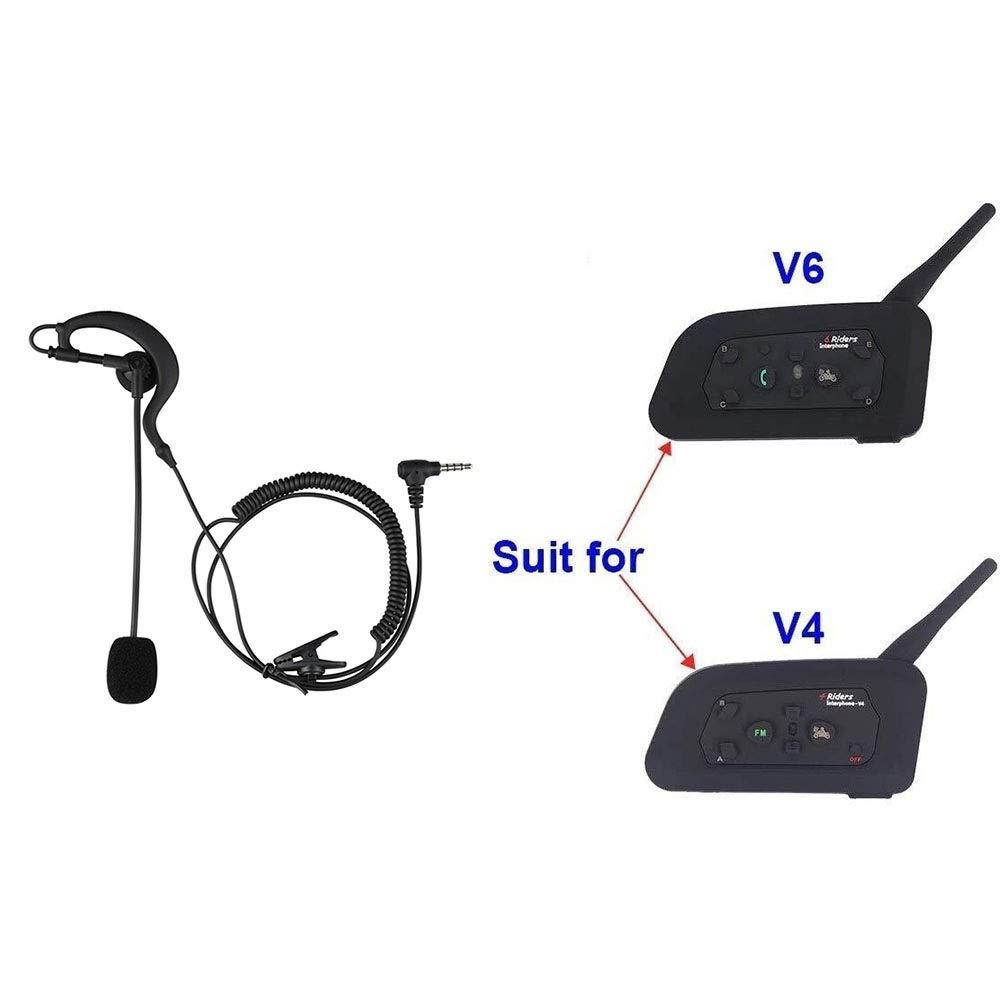 Casco for Auricolare Bluetooth Walkie-Talkie V4 V6 Cavo Auricolare Speciale SPRIS Auricolare Bluetooth for Casco Moto