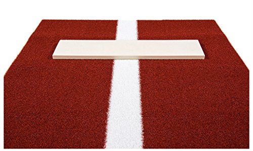 Pro-Ball Softball Pitching Mat with Power Line, Clay - 3 feet x 5 feet by Unknown