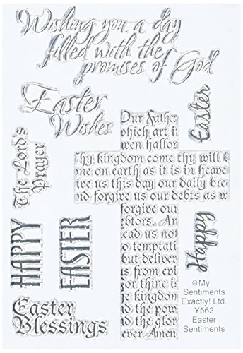 (MSE! Y562 My Sentiments Exactly Easter Sentiments Clear Stamp Set, 4