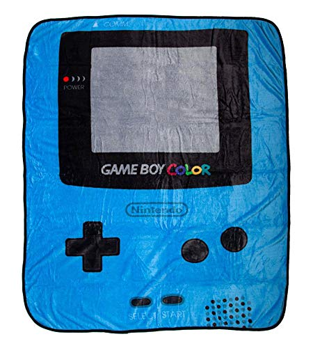 "Bioworld Nintendo Gameboy Color Plush Throw Fleece Blanket Soft Fuzzy 48"" x 60"" from Bioworld"