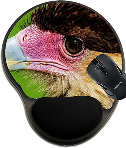 MSD Mousepad wrist protected Mouse Pads/Mat with wrist support design 34846340 ll close up head portrait of a crested cara cara showing detail in feathers beak and (Beak Care)