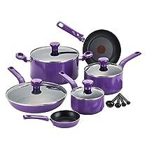 T-Fal Excite Purple Non-stick 14-piece Cookware Set C970SE74