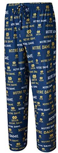 Concepts Sports NCAA Men's Blue Midfield Synthetic Pajama Pants (WAISTSIZE L=34/35, Notre Dame Fighting Irish Blue)