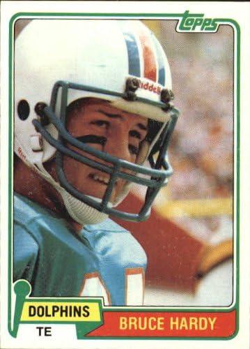 1981 Topps Football Rookie Card #444 Bruce Hardy