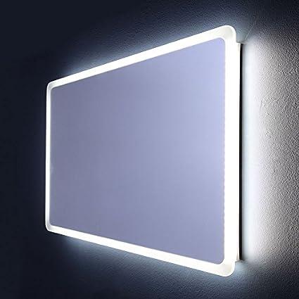 Specchio Bagno 60 X 60.Specchio Bagno Illuminato A Led Stondato 60 X 120 Cm Dallas