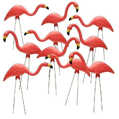 99485 Flamingo Garden Statues,Pink,Pack of 10(26-Inch) ()