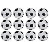 xhorizon TM SR Mini Black & White Table Soccer Foosballs Replacements Soccer Balls