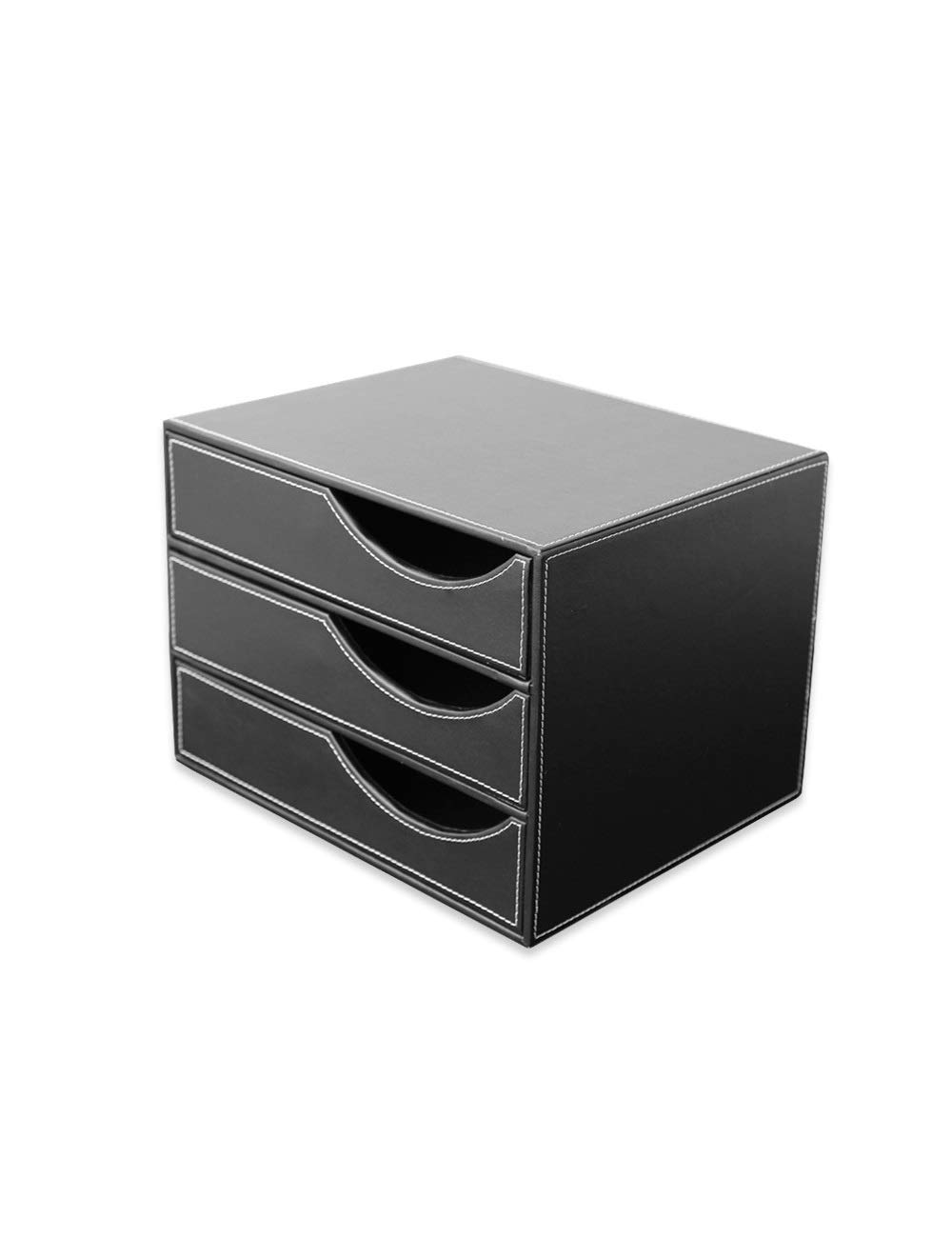 File Cabinets Office Desktop Drawer Type Stationery Cabinet 3 Layers A4 Cortex Data Cabinet Storage Box Storage Home Office Furniture (Color : A) by File Cabinets