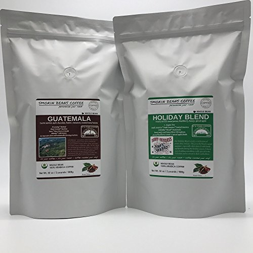 4-LBS FRESH ROASTED COFFEE – 2LB GUATEMALA – 2LB HOLIDAY BLEND – Order Today/ROASTED TODAY – WHOLE BEAN, Super-Fresh, BOLD-TASTE – a Beautiful Darker/Medium roast - Not Oily – SWEET ()