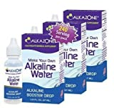Alkazone Alkaline Water Drops Make Your Own Alkaline Water/Alkaline Booster Drop (3 Pack)