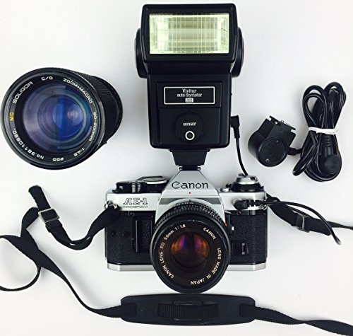 Canon AE-1 Program 35mm Manual Focus Film Camera - Lens - Flash Combo from Canon