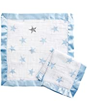 Aden By Aden And Anais Dapper Issie Muslin Security Blanket, Blue, White, Pack of 2