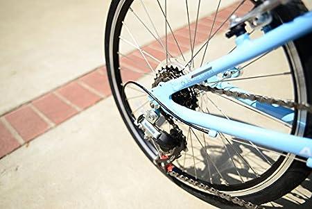 Allen deportes Urban X aluminio 7 velocidad bicicleta plegable, Cielo, 30 cm/un tamaño: Amazon.es: Deportes y aire libre