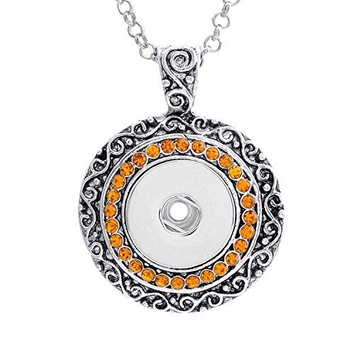 2017 NEW Crystal Alloy Pendant for Fit Noosa Necklace Snap Chunk Button -