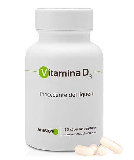 VITAMINA D3 * 100% de origen VEGETAL * 5 μg (200 UI) /
