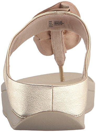 Fitflop Dames Florrie Teen-string Sandaal Licht Goud