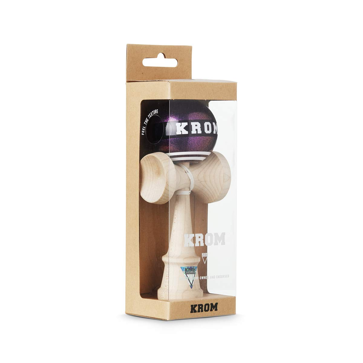 Smooth Texture and Flawless Balance Enhanced Cognitive Skills Krom Kendama Reflexes Kendama Pro Model for Beginners and Experts Strogo Blue-Collar and Creativity Improved Balance