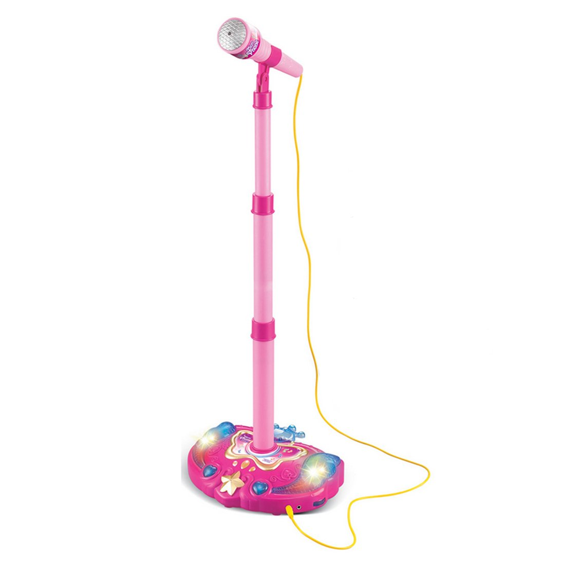 PeleusTech® Kids Karaoke Machine Adjustable Stand Microphone Music Toy with Light Effect - Pink by PeleusTech® (Image #1)