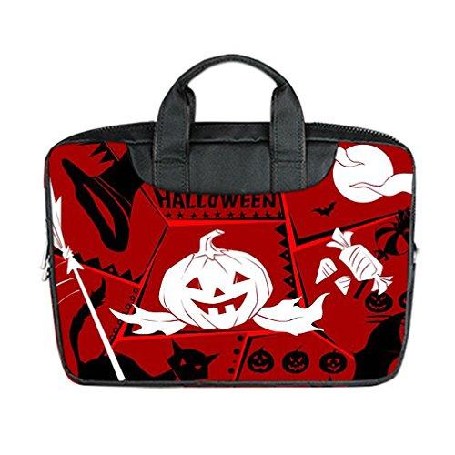 JIUDUIDODO Custom Cool Halloween Evil Jack with Bat Nylon Waterproof Bag Computer Bag Handbag for Laptop 15.6