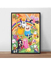 Adventure Time Cartoon Poster HD Printing Wall Art Printed Canvas Painting Wall Picture For Baby Nursery Bedroom Decor 50X70 Ramlös (A-4536)