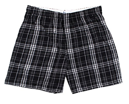 Boxercraft Adult Classic Flannel Boxers (Large, Black and Grey)