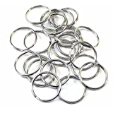 95 Light Weight Promotional Key Split Rings Size Nickel Plated Spring Steel (1.250 in / 31.75 mm)