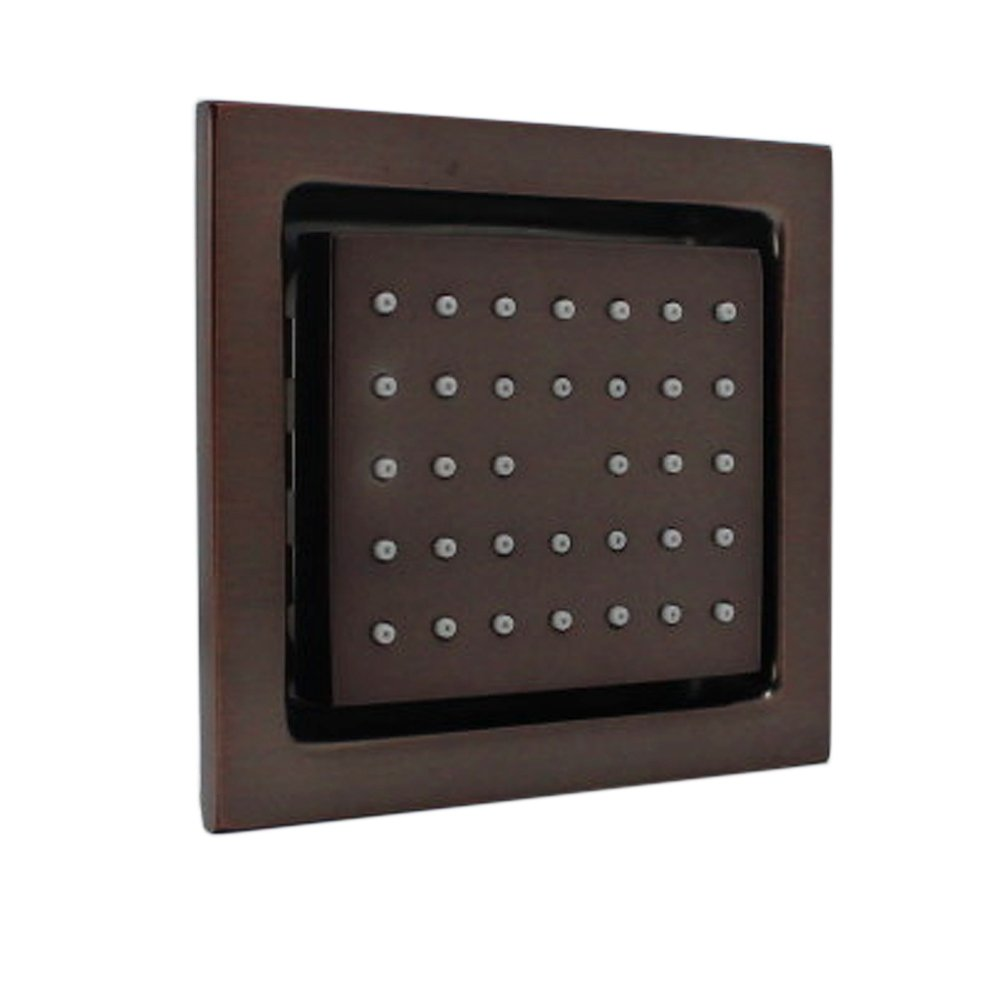 HOMEDEC Concealed Installation Body Jet Shower Spa Brass Square Massage Jets Spray Body Shower Bodyspray (Oil-Rubbed Bronze)