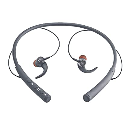 iBall EarWear Base BT 5.0 Neckband Earphone with Mic and 12 Hours Battery Life (Grey)