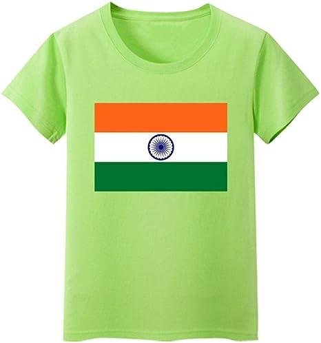 Daqin Bandera India Bandera De Manga Corta Niños Y Niñas Servicio De Clase Estudiantes De Escuela Primaria Mostrar Actividad Camiseta Cultura Camisa En La Ropa Bebé: Amazon.es: Deportes y aire libre