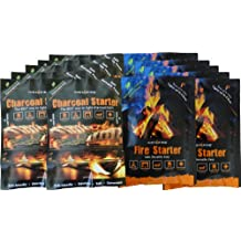 InstaFire Granulated Emergency FireStarter Combo Kit, 12 pack: 6 packs Charcoal Starter, 6 packs Fire Starter