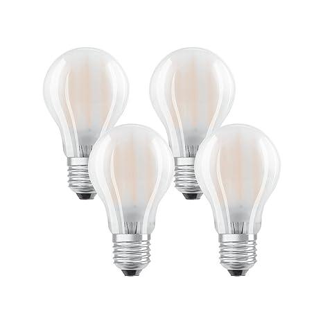 Osram 042902 Bombilla LED E27, 7 W, Blanco, 4 Unidades