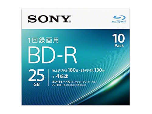 Sony 4X BD-R 10 pack 25GB White Printable 10BNR1VJPS4