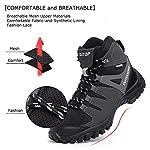 ziitop Chaussures de Randonnée Homme Bottes Tactiques pour Hommes Chaussures de randonnée et de Trekking à Taille Haute… 8