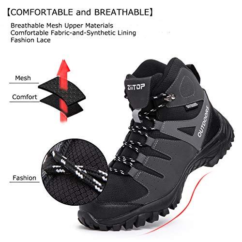 ziitop Chaussures de Randonnée Homme Bottes Tactiques pour Hommes Chaussures de randonnée et de Trekking à Taille Haute… 3