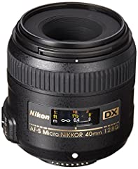 The AF-S DX Micro-NIKKOR 40mm f/2.8G is for taking high quality stills and HD D-Movies and is ideal for shooting general close-ups, delicate flowers, detailed collectables, copy photography, portraits, landscapes and more. Small enough to be ...