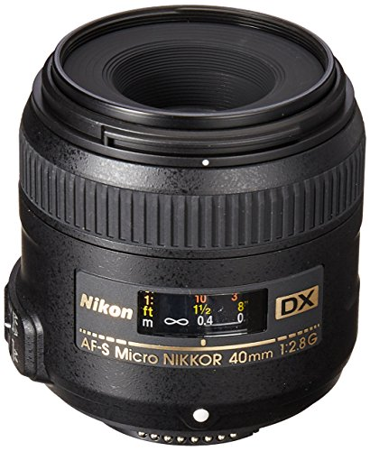 Nikon AF-S DX Micro-NIKKOR 40mm f/2.8G Close-up Lens for Nikon DSLR Cameras (Best Prime Lenses For Nikon D810)