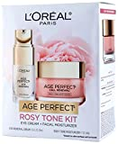 L'Oréal Paris Skin Care Giftable Kit with Age Perfect Rosy Tone Face Moisturizer & Eye Renewal Eye Cream, 1 Kit