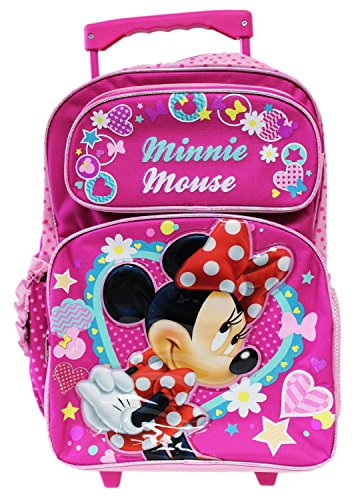 Minnie Mouse Dress Rolling Backpack