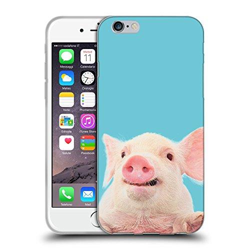 """GoGoMobile Coque de Protection TPU Silicone Case pour // Q05730627 Cochon mignon Ciano // Apple iPhone 6 4.7"""""""