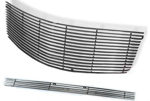 MaxMate Fits 05-09 Cadillac SRX 2PC Combo Horizontal Billet Polished Aluminum Grille Grill Insert