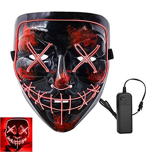 LED Halloween Mask LED Mask Costume EL Wire