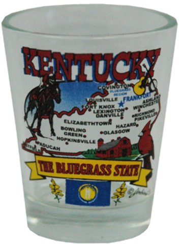 Jenkins Enterprises 1937870 Kentucky Shot Glass State Map - Case of 144 by Jenkins Enterprises