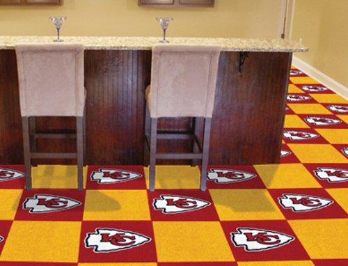 Fanmats Kansas City Chiefs Carpet Tiles 18