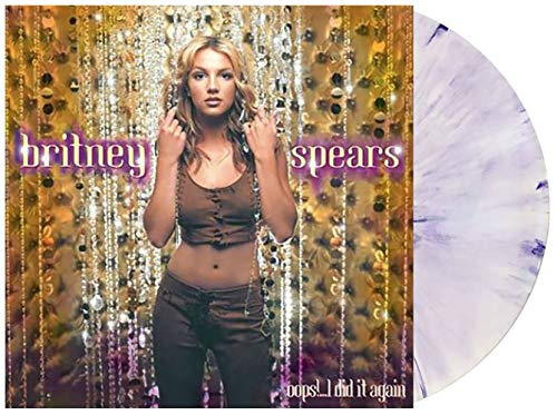 Oops!...I Did It Again - Exclusive Limited Edition Purple And White Swirl Vinyl LP (Britney Spears In Baby One More Time)